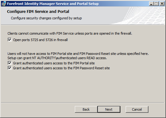 Installing the FIM 2010 Server Components » SuperG Web Log