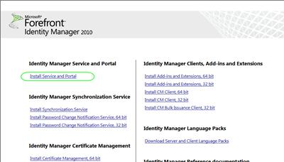 Installing the FIM 2010 Server Components » SuperG Web Log